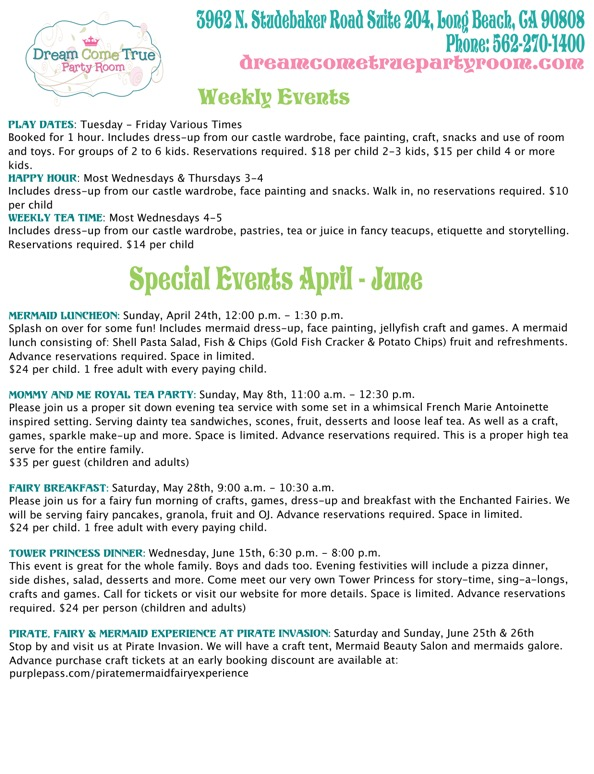 Schedule Large Flyer April to June