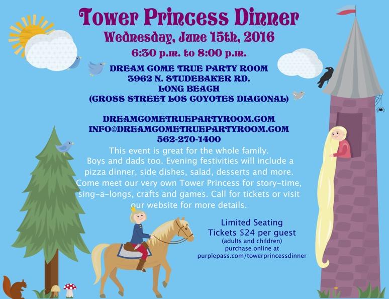 Tower Princess Dinner Flyer